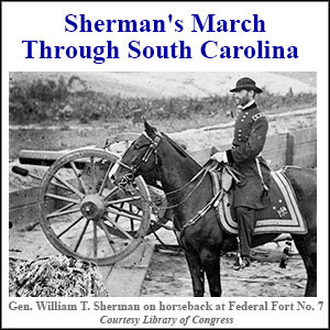 Sherman on horseback at Federal Fort No. 7